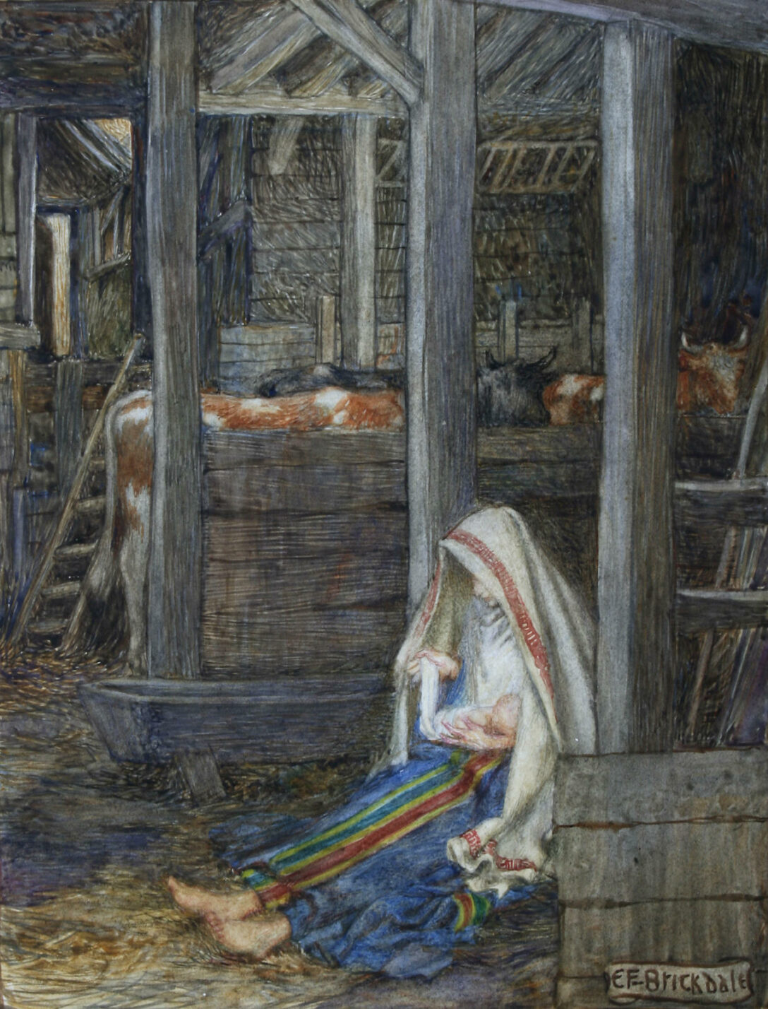 Mary in the Stable